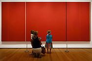 Barnett Newman (American, 1905-1970)<br /> Vir Heroicus Sublimis &quot;Man, Heroic and Sublime&quot; (1950-51)<br /> MoMA (Museum of Modern Art) New York City.