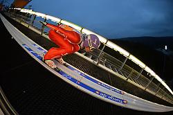 21.11.2014, Vogtland Arena, Klingenthal, GER, FIS Weltcup Ski Sprung, Klingenthal, Herren, HS 140, Qualifikation, im Bild Andreas Wellinger (GER) // during the mens HS 140 qualification of FIS Ski jumping World Cup at the Vogtland Arena in Klingenthal, Germany on 2014/11/21. EXPA Pictures © 2014, PhotoCredit: EXPA/ Eibner-Pressefoto/ Harzer<br /> <br /> *****ATTENTION - OUT of GER*****