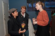 TINGE KRISHNAN; CHRISTOPHER BANGS; ROMOLA GARAI,  BIRDS EYE VIEW INTERNATIONAL WOMEN'S DAY  RECEPTION, BFI Southbank. London. 8 March 2012.