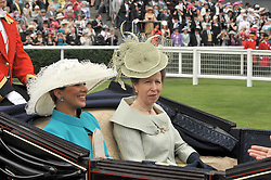 PRINCESS HAYA OF JORDAN and the PRINCESS ROYAL at the 3rd day of Royal Ascot 2009 on 18th June 2009.