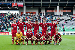 Team Poland before the UEFA European Under-17 Championship Group A semifinal match between Germany and Poland on May 13, 2012 in SRC Stozice, Ljubljana, Slovenia. Germany defeated Poland 1:0. (Photo by Matic Klansek Velej / Sportida.com)