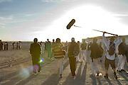 Salah Ameidan followed by Dirctor/Camera Saeed Taji Farouky and Sound Recordist  Brendan Butler.
