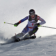 Wendy Holdener, Switzerland, in action during the Women's Slalom event during the Winter Games at Cardrona, Wanaka, New Zealand, 24th August 2011. Photo Tim Clayton...