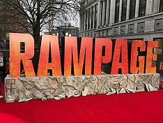 11 APRIL 2018 Rampage European Premiere