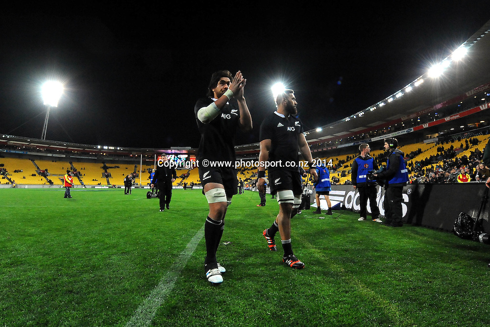 All Black Steven Luatu after the Rugby Championship Rugby Union Test Match New Zealand All Blacks v South Africa. Westpac Stadium, Wellington, New Zealand. Saturday 13 September 2014. Photo: Chris Symes/www.photosport.co.nz