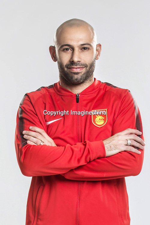 **EXCLUSIVE**Portrait of Argentine soccer player Javier Mascherano of Hebei China Fortune F.C. for the 2018 Chinese Football Association Super League, in Marbella, Spain, 26 January 2018.