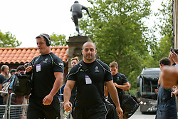 Nick Schonert and Jaba Bregvadze of Worcester Warriors arrive - Rogan Thomson/JMP - 03/09/2016 - RUGBY UNION - Twickenham Stadium - London, England - Aviva Premiership London Double Header.