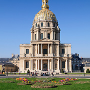 Les Invalides, near the Eiffel Tower, in Paris. It is best known as containing the tomb of Napolean Bonaparte.