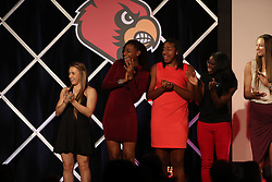 The University of Louisville Women's Basketball team was introduced during their tip off luncheon, Wednesday, Nov. 02, 2016 at Downtown Marriott in Louisville. <br /> <br /> Photo by Jonathan Palmer, Special to the CJ
