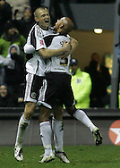 Derby - Tuesday October 28th, 2008: Celebration - Przemyslaw Kazmierczak of Derby County celebrates scoring the third goal against Norwich City with Jordan Stewart, during the Coca Cola Championship match at Pride Park, Derby. (Pic by Michael Sedgwick/Focus Images)