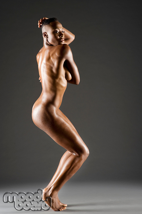 Side view of African American woman