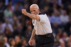 Feb 15, 2012; Oakland, CA, USA; NBA referee Dick Bavetta (27) during the first quarter between the Golden State Warriors and the Portland Trail Blazers at Oracle Arena. Portland defeated Golden State 93-91. Mandatory Credit: Jason O. Watson-US PRESSWIRE