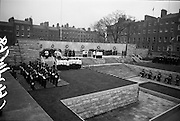 11/04/1966<br /> 04/11/1966<br /> 11 April 1966<br /> 1916 Jubilee Commemorations- Opening and Blessing Ceremony at the Garden of Remembrance, Parnell Square, Dublin. Image shows part of the blessing service.