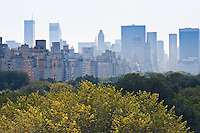 manhattan viewed over central park in New York City in October 2008