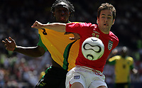 Photo: Paul Thomas.<br /> England v Jamaica. International Friendly. 03/06/2006.<br /> <br /> Jole Cole (R) of England battles with Damion Stewart.