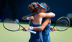 September 5, 2018 - Zhang Shuai of China & Sam Stosur of Australia during the doubles quarter-final at the 2018 US Open Grand Slam tennis tournament. New York, USA. September 05, 2018. (Credit Image: © AFP7 via ZUMA Wire)