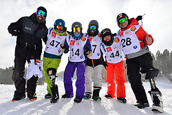 Europa Cup Finals Banked Slalom, French Team, BRECHET Sylvain, FRA, MONTAGGIONI Maxime, HAMOU Jonathan, BOUDIN Olivier, BARATTERO Patrice at the 2016 IPC Snowboard Europa Cup Finals and World Cup