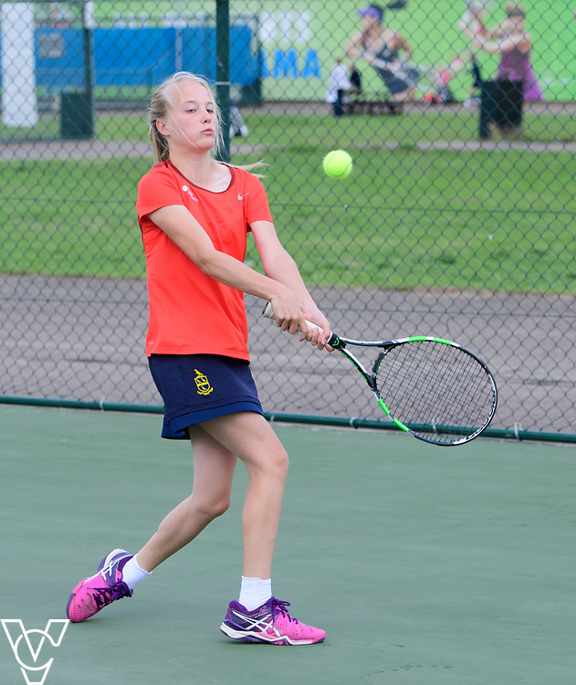 Aberdare Cup - Repton School - Mae Fitzgerald<br /> <br /> Team Tennis Schools National Championships Finals 2017 held at Nottingham Tennis Centre.  <br /> <br /> Picture: Chris Vaughan Photography for the LTA<br /> Date: July 14, 2017