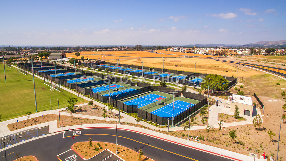 Aerial Photo of Tennis Courts and Sports Park at Great Park Irvine