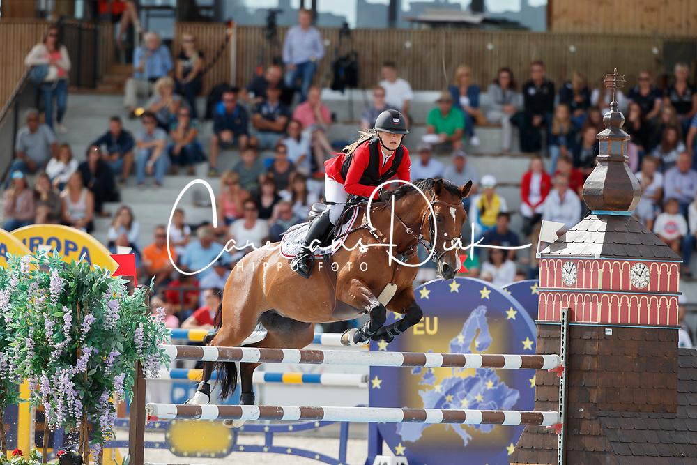 Kjaer Cecilie, DEN, Aagaardens Elina<br /> Children European Championships Jumping <br /> Samorin 2017&copy; Hippo Foto - Dirk Caremans<br /> 12/08/2017