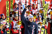 Poland, Wisla Malinka - 2017 November 18: Jakub Janda from Czech Republic ends his career of a jumper and farewells with supporters during FIS Ski Jumping World Cup Wisla 2017/2018 - Day 2 at jumping hill of Adam Malysz on November 18, 2017 in Wisla Malinka, Poland.<br /> <br /> Mandatory credit:<br /> Photo by &copy; Adam Nurkiewicz<br /> <br /> Adam Nurkiewicz declares that he has no rights to the image of people at the photographs of his authorship.<br /> <br /> Picture also available in RAW (NEF) or TIFF format on special request.<br /> <br /> Any editorial, commercial or promotional use requires written permission from the author of image.