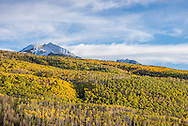 Fall landscape as seen from the West Elk Loop scenic byway on Highway 133 near Paonia, Colorado.