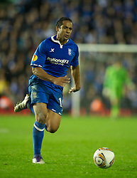 BIRMINGHAM, ENGLAND - Thursday, November 3, 2011: Birmingham City's Jean Beausejour in action against Club Brugge during the UEFA Europa League Group H match at St. Andrews. (Pic by David Rawcliffe/Propaganda)