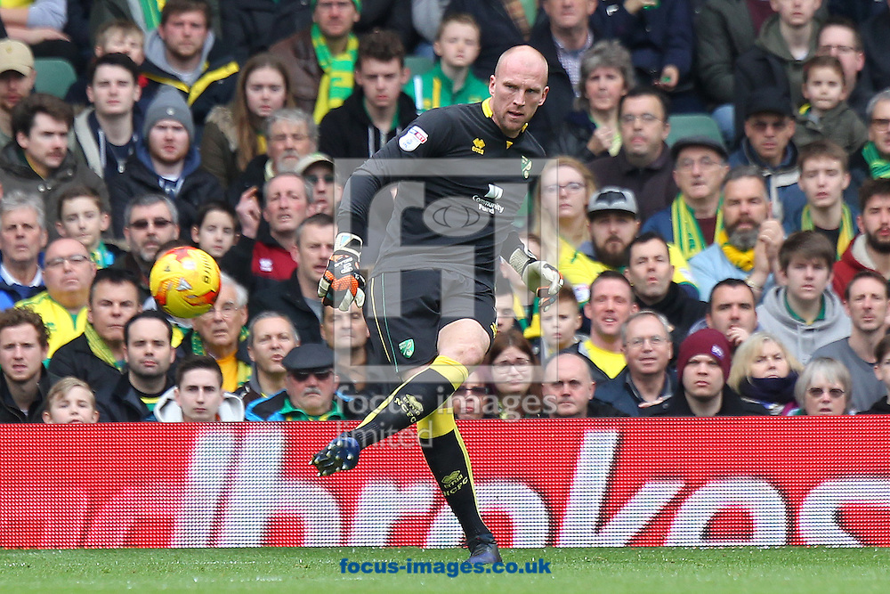 John Ruddy of Norwich during the Sky Bet Championship match at Carrow Road, Norwich<br /> Picture by Paul Chesterton/Focus Images Ltd +44 7904 640267<br /> 26/02/2017
