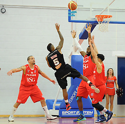 Leicester Riders Neil Watson takes a shot at goal. - Photo mandatory by-line: Dougie Allward/JMP - Mobile: 07966 386802 - 13/03/2015 - SPORT - Basketball - Bristol - SGS Wise Campus - Bristol Flyers v Leicester Riders - British Basketball League