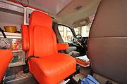 Interior of a Magen David Adom Ambulance,