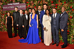 © Licensed to London News Pictures. 18/11/2018. London, UK. The cast of musical show Hamilton attend the 64th Evening Standard Theatre Awards held at the Theatre Royal, Dury Lane. Photo credit: Ray Tang/LNP