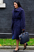 UNITED KINGDOM, London: 17 November 2015 Priti Patel Minister of State for Employment arrives to attend Cabinet Meeting at 10 Downing Street in London, England. Picture by Andrew Cowie / Story Picture Agency