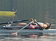 Hazewinkel, BELGIUM, W1X, a dissapointed Debbie FLOOD after the  A Final, of the Women's  Single Sculls, at the GB Rowing Senior Trials, on Mon 16.04.2007  [Credit, Peter Spurrier/Intersport-images]   [Mandatory Credit, Peter Spurier/ Intersport Images]. , Rowing Course, Bloso, Hazewinkel. BELGUIM