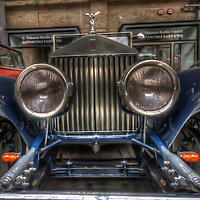 Close upon Classic car. Vintage Rolls Royce