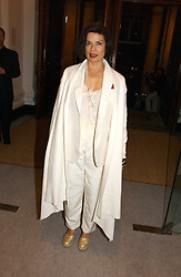 BIANCA JAGGER at a reception to celebrate the opening of 'USA Today' - an exhibition of work from The Saatchi Gallery held at The Royal Academy of Arts, Burlington Gardens, London on 5th September 2006.<br />