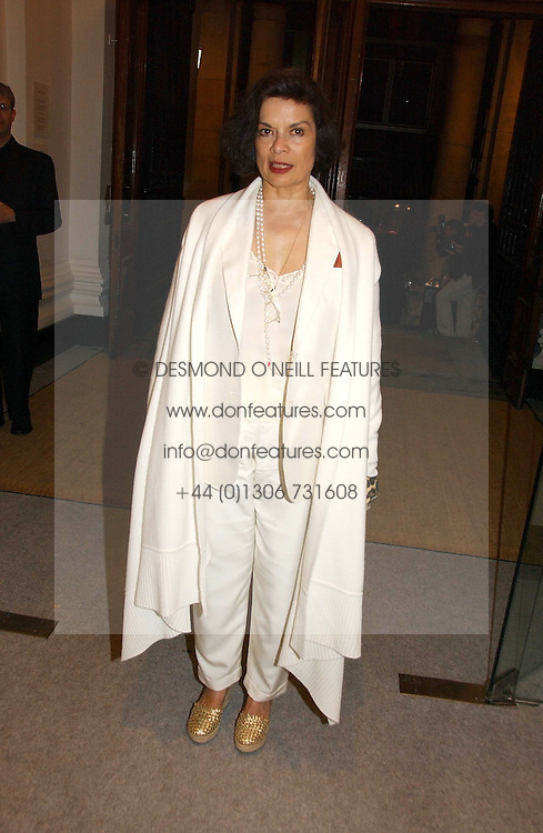 BIANCA JAGGER at a reception to celebrate the opening of 'USA Today' - an exhibition of work from The Saatchi Gallery held at The Royal Academy of Arts, Burlington Gardens, London on 5th September 2006.<br /><br />NON EXCLUSIVE - WORLD RIGHTS
