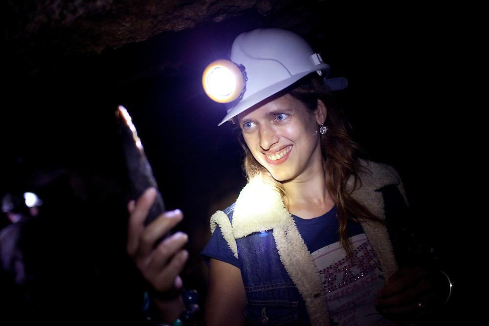 Antonia underground, Creswell Caves. Nottinghamshire