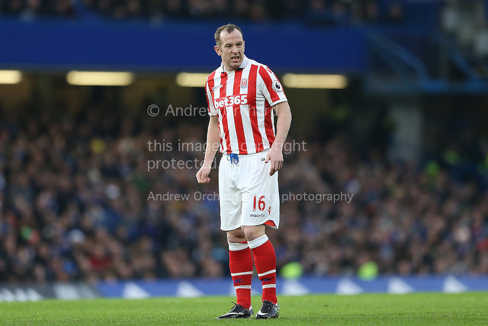 Charlie Adam of Stoke City looking on. Premier league match, Chelsea v Stoke city at Stamford Bridge in London on Saturday 31st December 2016.<br /> pic by John Patrick Fletcher, Andrew Orchard sports photography.