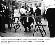 Nicholas Corriman dancing during the Peterhouse 7th Centenary Ball. Cambridge. Film 84503f3<br />