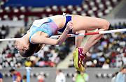 Ana Simic aka Ana Šimic (CrO) ties for second in the women's high jump at  6-3¼ (1.91m) during the IAAF Doha Diamond League 2019 at Khalifa International Stadium, Friday, May 3, 2019, in Doha, Qatar (Jiro Mochizuki/Image of Sport)