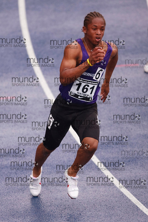 Toronto, Ontario ---28/06/09---  Akeem Haynes competing in  at the Canadian National Track and Field Championships in Toronto, Ontario June 28, 2009..GEOFF ROBINS Mundo Sport Images