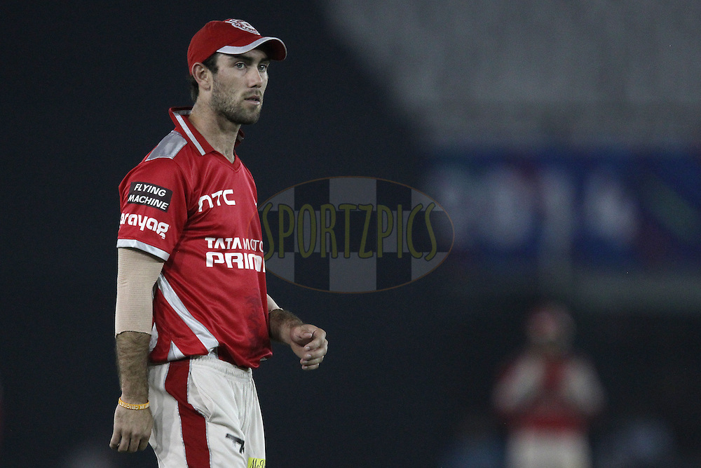 Glenn Maxwell during match 2 of the Oppo Champions League Twenty20 between the Kings XI Punjab and the Hobart Hurricanes held at the Punjab Cricket Association Stadium, Mohali, India on the 18th September 2014<br /> <br /> Photo by:  Ron Gaunt / Sportzpics/ CLT20<br /> <br /> <br /> Image use is subject to the terms and conditions as laid out by the BCCI/ CLT20.  The terms and conditions can be downloaded here:<br /> <br /> http://sportzpics.photoshelter.com/gallery/CLT20-Image-Terms-and-Conditions-2014/G0000IfNJn535VPU/C0000QhhKadWcjYs