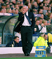 Peter Reid (Leeds Manager) cant believe his bad luck. Leeds United v Manchester United. 18/10/03. Credit : Colorsport/Andrew Cowie.