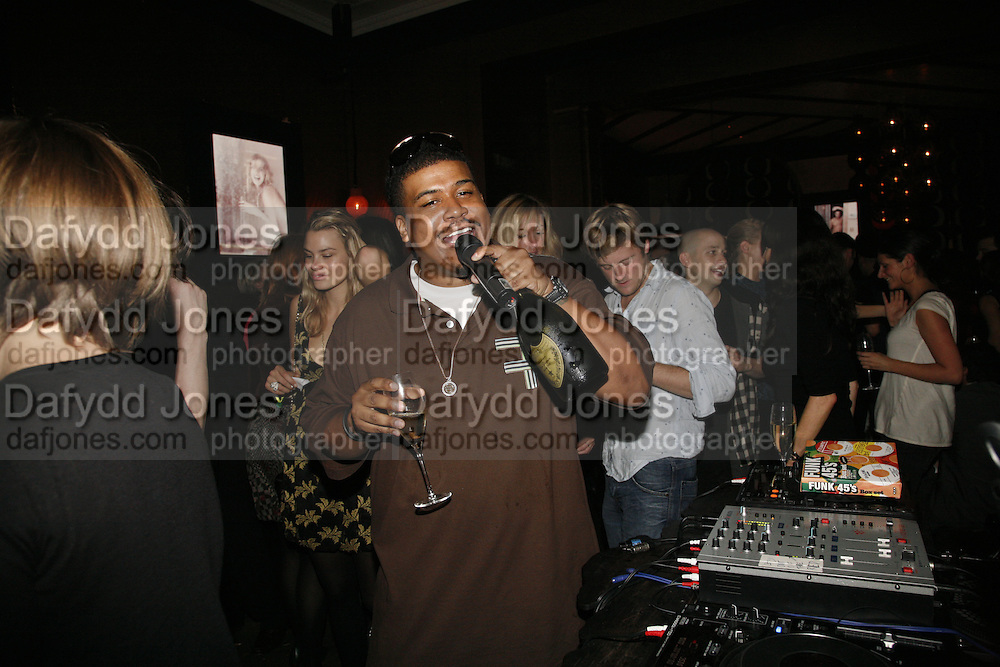 David Jude Jolicoeur, ( Trugoy of De La soul), , Dom Perignon and Exit present Room service, an exhibition of photographs featuring Eva Herzigova  by Karl Largerfeld. -DO NOT ARCHIVE-© Copyright Photograph by Dafydd Jones 66 Stockwell Park Rd. London SW9 0DA Tel 020 7733 0108 www.dafjones.com