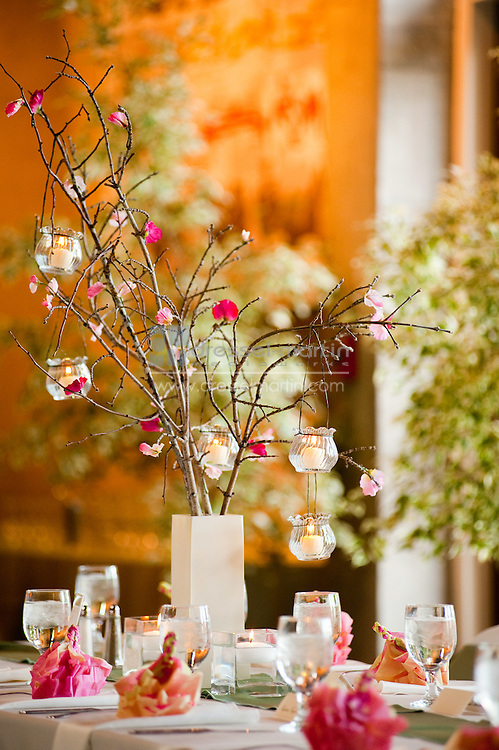 Denver Botanic Gardens, Mitchell Hall, Wedding set-up,