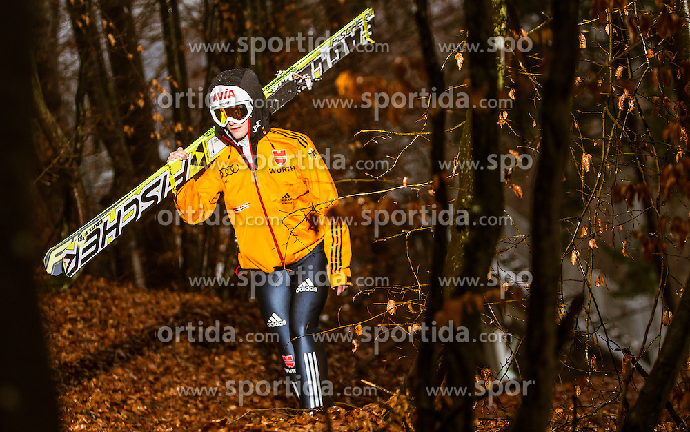 05.01.2014, Paul Ausserleitner Schanze, Bischofshofen, AUT, FIS Ski Sprung Weltcup, 62. Vierschanzentournee, Training, im Bild Marinus Kraus (GER) // Marinus Kraus (GER) during practice Jump of 62nd Four Hills Tournament of FIS Ski Jumping World Cup at the Paul Ausserleitner Schanze, Bischofshofen, Austria on 2014/01/05. EXPA Pictures © 2014, PhotoCredit: EXPA/ JFK