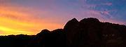 Sunset silhouette, Mount Ermensiri, Lobo Village, Papua