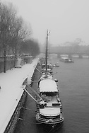 France. Paris.  the Seine river , Quai Conti