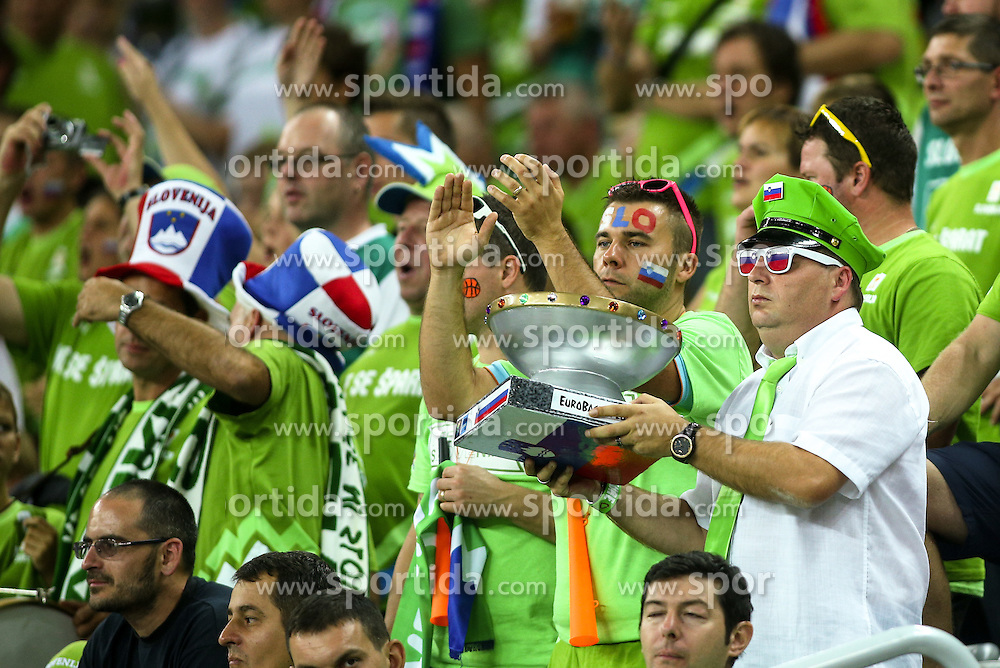 Fans during basketball match between Slovenia vs Netherlands at Day 4 in Group C of FIBA Europe Eurobasket 2015, on September 8, 2015, in Arena Zagreb, Croatia. Photo by Matic Klansek Velej / Sportida