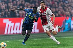 27-10-2019 NED: Ajax - Feyenoord, Amsterdam<br /> Eredivisie Round 11, Ajax win 4-0 / Ridgeciano Haps #5 of Feyenoord, Joël Veltman #3 of Ajax